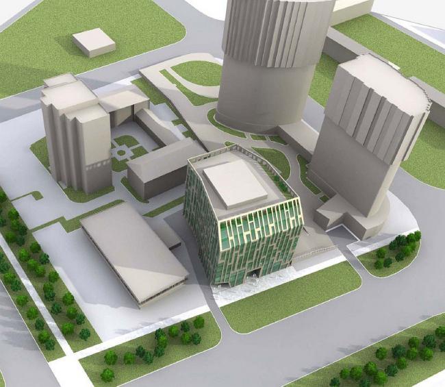 Многофункциональный торгово-офисный комплекс, Нахимовский пр-т, вл.58 © ABD architects