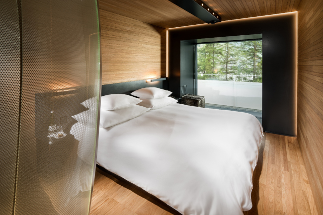 Проект Тома Мейна, номер «Дерево» © Global Image Creation – 7132 Hotel, Vals