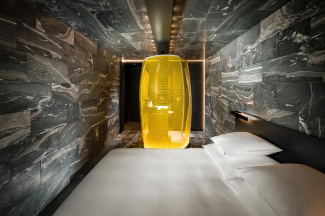 Проект Тома Мейна, номер «Камень» © Global Image Creation – 7132 Hotel, Vals