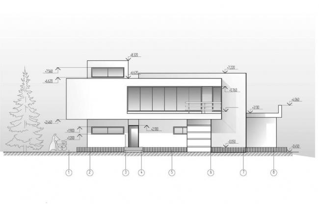 Частный дом в пос. Новинки © Архитектурное бюро С. Горшунова