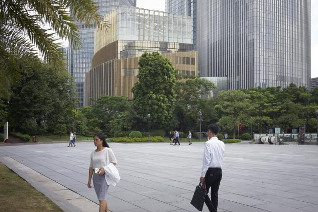 Башня Guangzhou CTF Finance Centre © Julien Lanoo