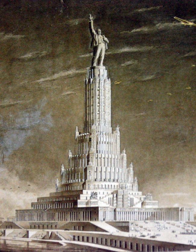 20. Проект Дворца Советов, арх. Б.М. Иофан, В.А.Щуко, В.Г.Гельфрейх, 1934