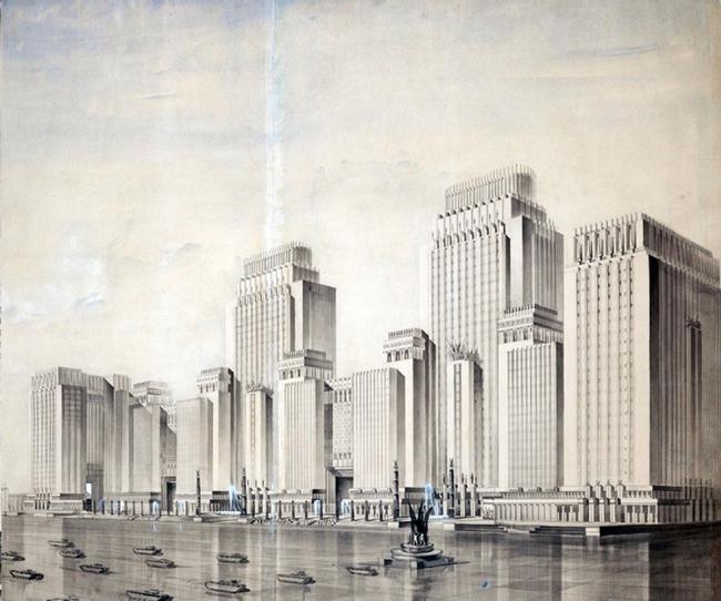 17. Проект Наркомтяжпрома на Красной площади в Москве, Д.Ф.Фридман, 1934