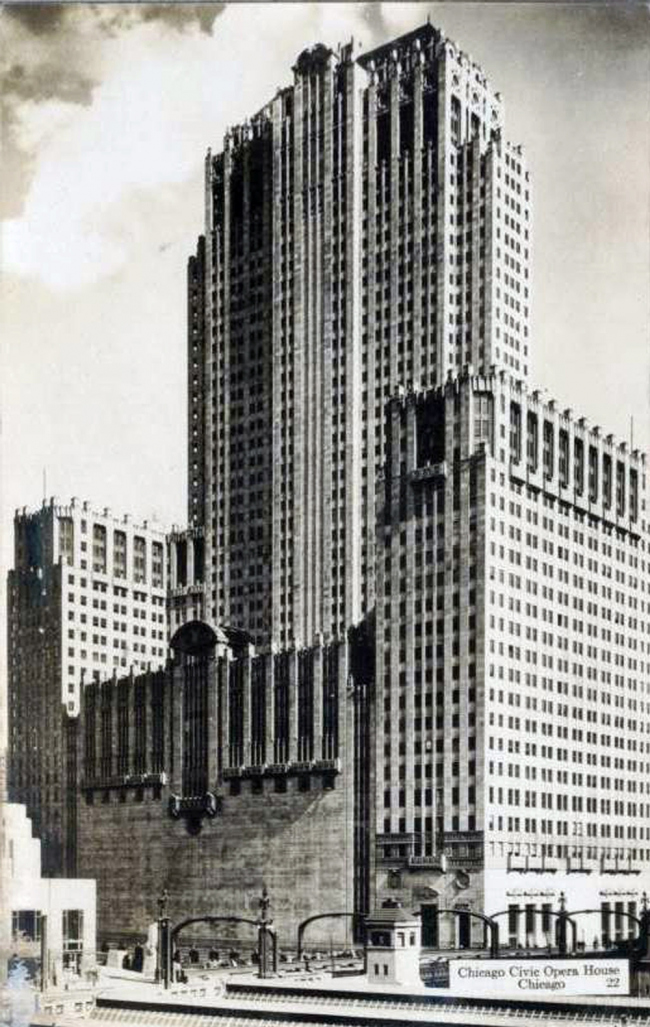 16. Сивик Опера билдинг в Чикаго, арх. фирма «Грехем, Андерсон, Пробст и Уайт», 1929.