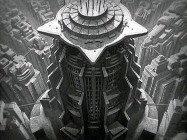 6. Башня из фильма «Метрополис», реж. Ф. Ланг, 1927