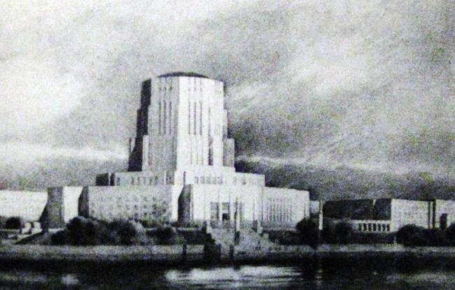 3. Проект здания Лиги наций в Женеве, арх. Э.Сааринен, 1927