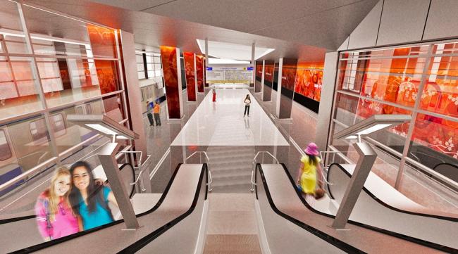 Cтанция метро «Мичуринский проспект» © ОАО «Метрогипротранс»