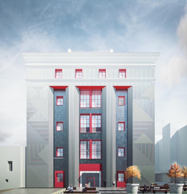 Конкурсный проект для территории комбината «Правда» © Akhmadullin Architects