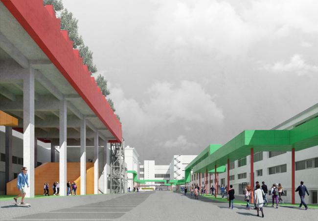 Конкурсный проект для территории комбината «Правда» © «Архатака» («Лес»)