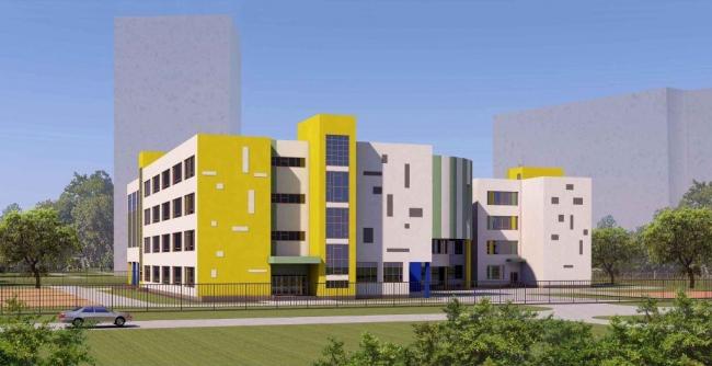 Школа в Бескудниково. Схема фасадов © ГУП «МНИИТЭП». Предоставлено пресс-службой «Москомархитектуры»