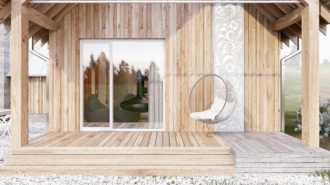 Русский стиль. Флагман, Стандарт. Патио © Ilya Samsonov Architecture & Design