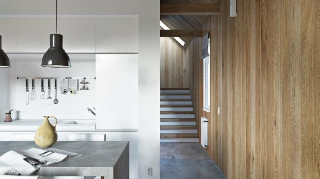 Русский стиль. Интерьер: лестница в спальню © Ilya Samsonov Architecture & Design