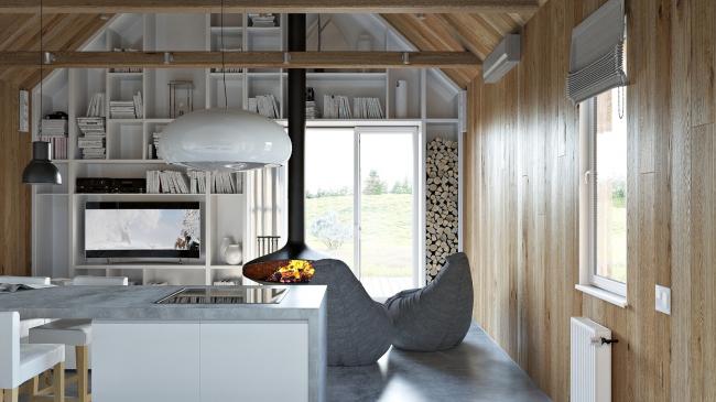 Русский стиль. Интерьер: вид на гостиную © Ilya Samsonov Architecture & Design