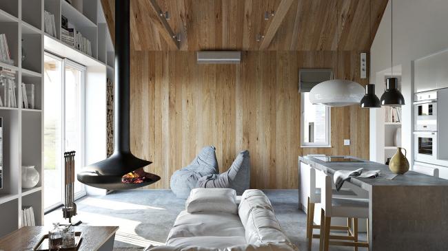 Русский стиль. Интерьер: общий вид гостиной © Ilya Samsonov Architecture & Design