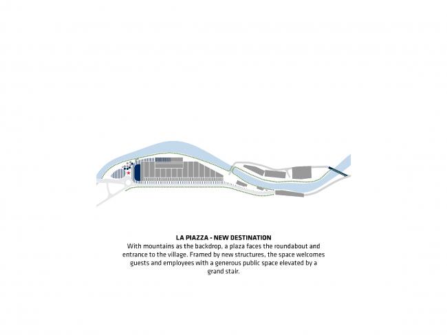 Площадь. Проект флагманского завода «Сан-Пеллегрино» © BIG
