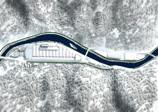 План. Проект флагманского завода «Сан-Пеллегрино» © BIG