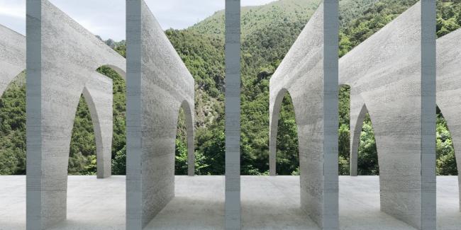 Расчленение на слои. Проект флагманского завода «Сан-Пеллегрино» © BIG