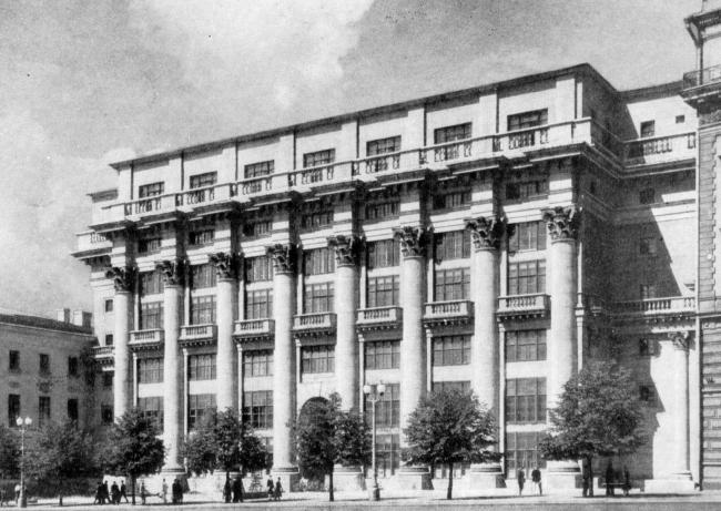1. Дом на Моховой ул., арх. И.В.Жолтовский, 1932-1934