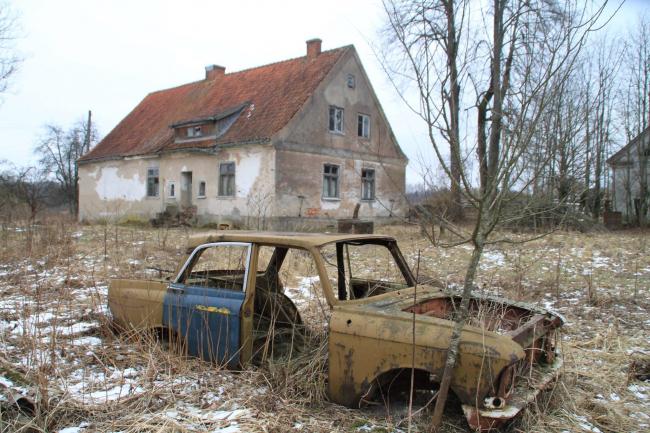 Поселок Плонжовен округи Пиллькален, ныне Папоротное  Калининградской области. Фото © Mikołaj Troniewski