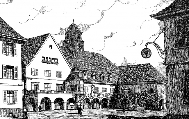 Фантазии на тему восстановления малого восточнопрусского города архитектора Гейнца Шпицнера. Из журнала Deutsche Bauhütte, номер 19-20 от 1915 года
