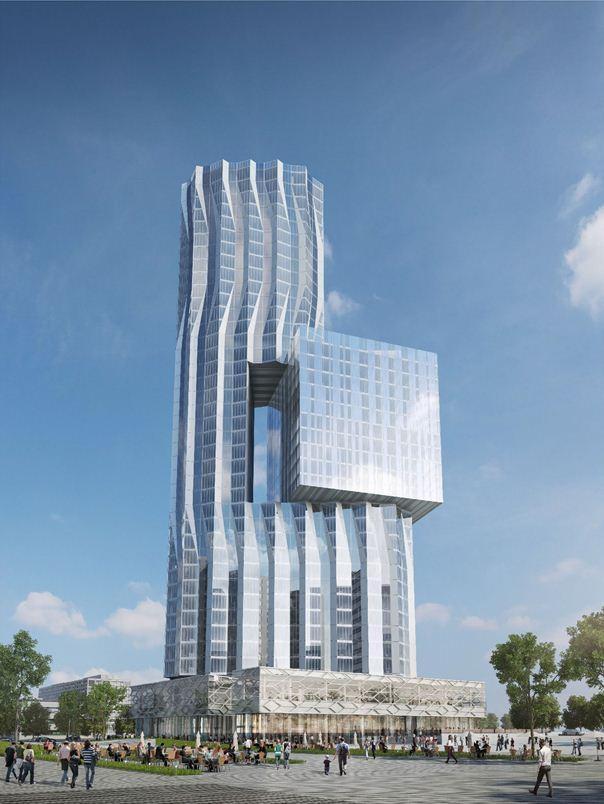 Башня на территории бывшего завода ЗИЛ по проекту Asymptote. Изображение предоставлено Москомархитектуры
