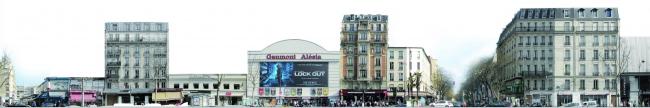 Кинотеатр Alésia – реконструкция. Вид до реконструкции © Manuelle Gautrand Architecture