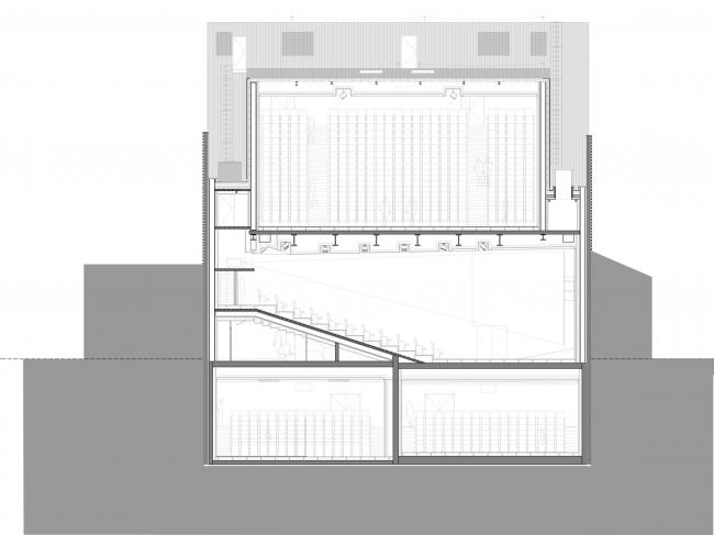 Кинотеатр Alésia – реконструкция © Manuelle Gautrand Architecture