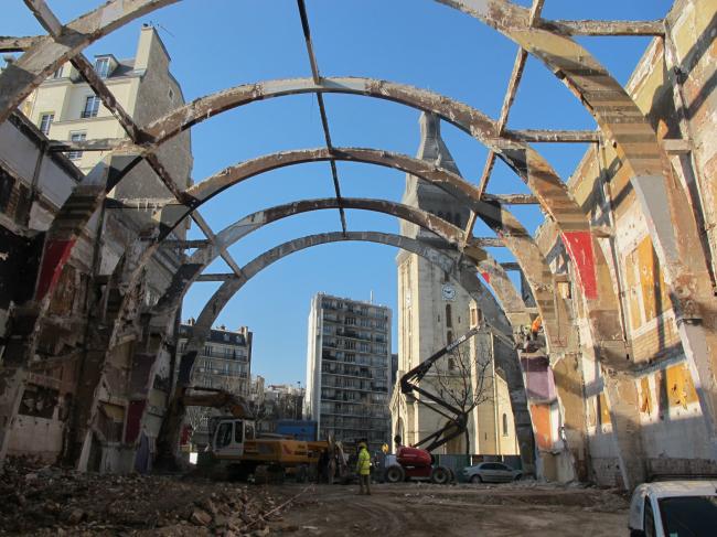 Кинотеатр Alésia – реконструкция. Процесс строительства © Manuelle Gautrand Architecture