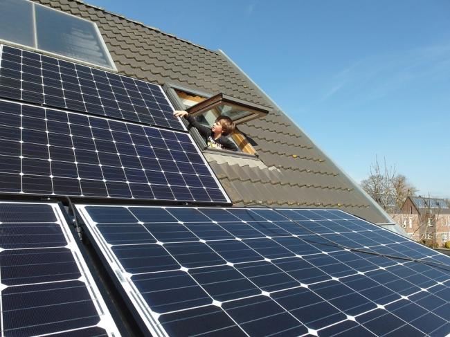Солнечные панели. Фотография находится в открытом доступе