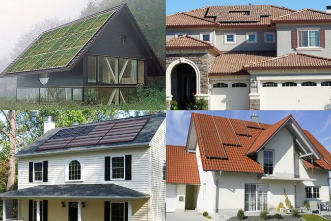 Примеры солнечных панелей с имитацией поверхностей. Предоставлено компанией Sistine Solar