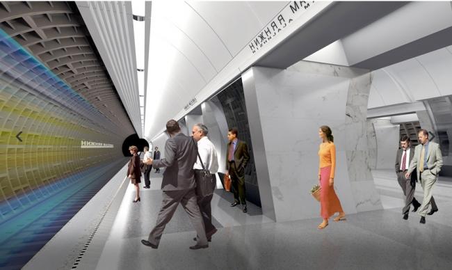 Станция метро «Нижняя Масловка» © ОАО «Метрогипротранс». Предоставлено пресс-службой «Москомархитектуры»