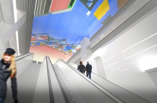 Станция метро «Хорошевская» © ОАО «Метрогипротранс». Предоставлено пресс-службой «Москомархитектуры»