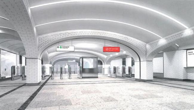 Станция метро «Селигерская» © ОАО «Моспромпроект». Предоставлено пресс-службой «Москомархитектуры»