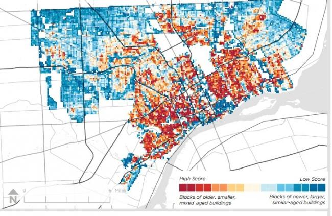 Карта Детройта. Изображение с сайта forum.savingplaces.org