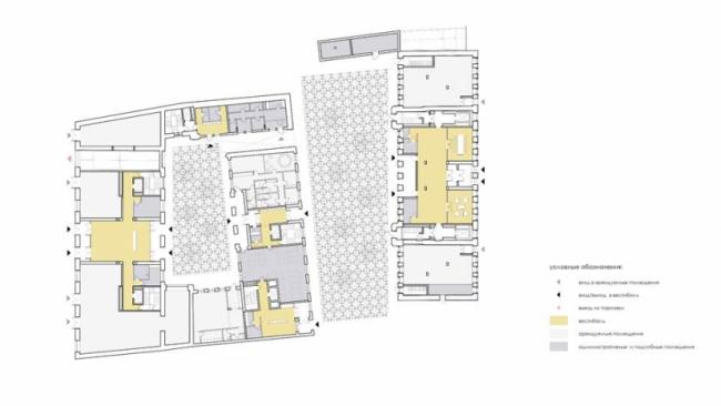 ЖК «Cloud Nine». План 1-го этажа © Цимайло, Ляшенко и Партнеры. Предоставлено пресс-службой «Москомархитектуры»