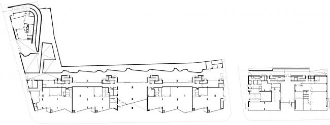 Жилой комплекс и офис на Пречистенской набережной. Общие планы, 1 этаж. Проект, 2005 © Остоженка