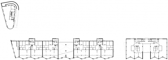 Жилой комплекс и офис на Пречистенской набережной. Общие планы, 4 этаж. Проект, 2005 © Остоженка