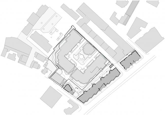 Жилой комплекс и офисное здание на Пречистенской набережной. Общий план © Остоженка