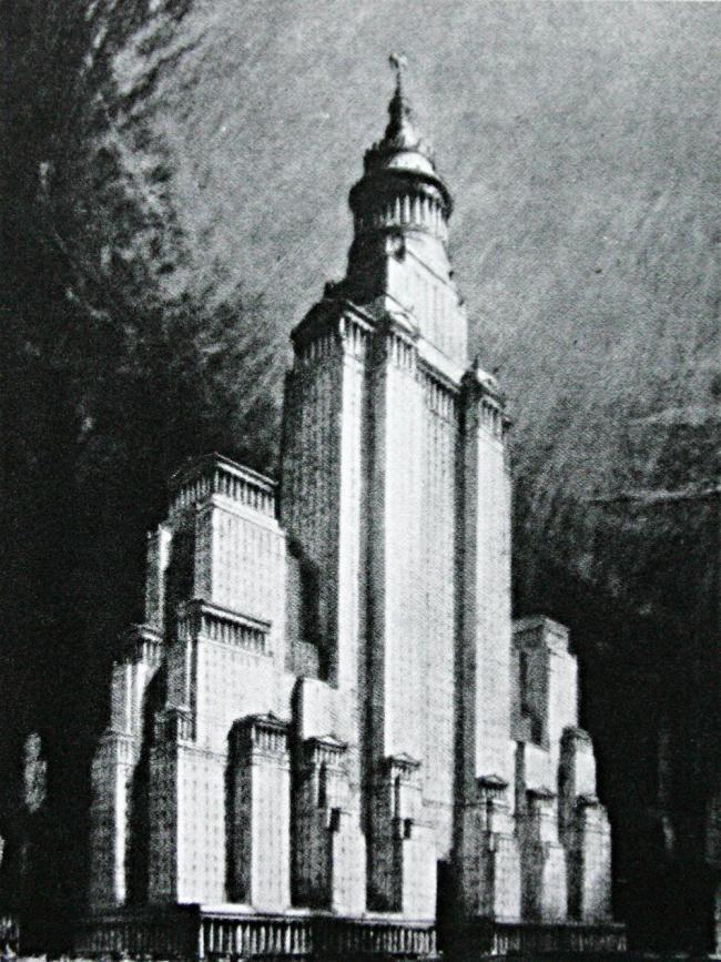 18. Окончательный вид небоскреба с учетом закона о зонировании, арх. Х.Корбет 1925
