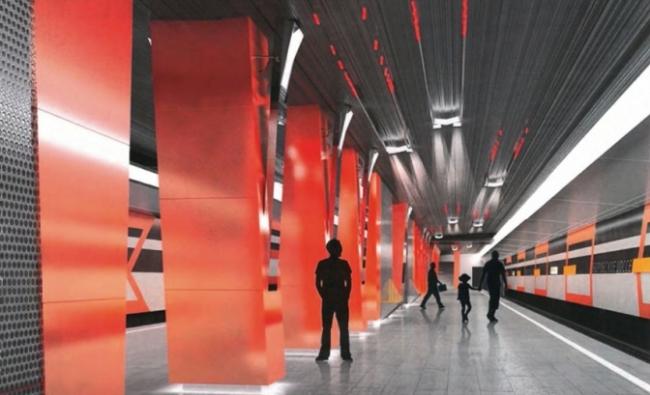 Станция метро «Боровское шоссе» © ОАО «Метрогипротранс». Предоставлено пресс-службой «Москомархитектуры»