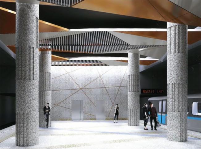 Станция метро «Косино» © ОАО «Моспромпроект». Предоставлено пресс-службой «Москомархитектуры»