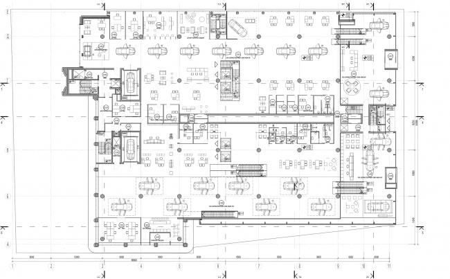 Дилерский центр для Mercedes-Benz и Audi на территории ЗИЛа. Схема плана 2 этажа. Проект, 2016