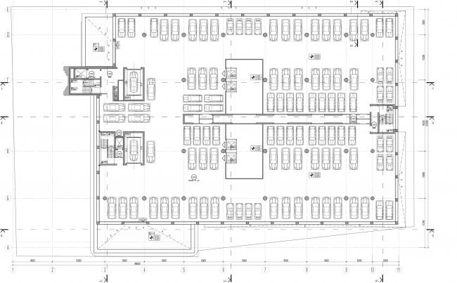 Дилерский центр для Mercedes-Benz и Audi на территории ЗИЛа. Схема плана 5 этажа. Проект, 2016