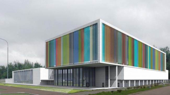 Школа олимпийского резерва на ул. 9-ая Северная линия © Моспроект-3. Предоставлено пресс-службой «Москомархитектуры»