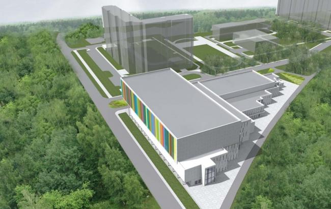 Школа олимпийского резерва на ул. 9-я Северная линия © Моспроект-3. Предоставлено пресс-службой «Москомархитектуры»