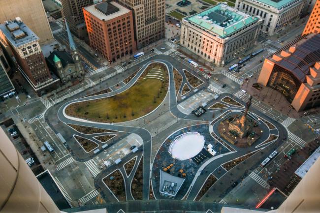 Площадь Паблик-Сквер–реконструкция. Фото: Erik Drost via flickr.com. Лицензия CC BY 2.0