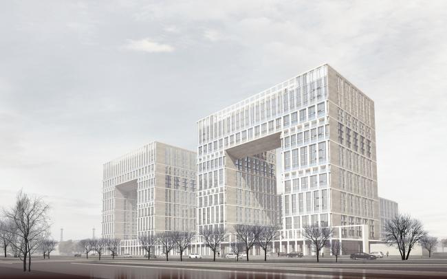 Вид на Жилой комплекс со стороны ул. Типанова. © Студия 44