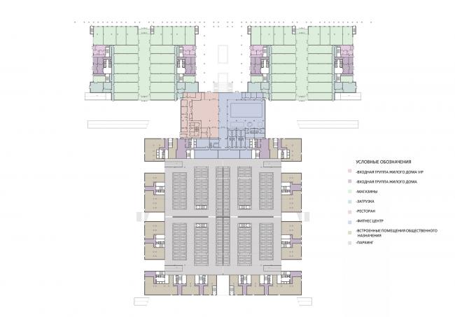 Жилой комплекс на ул. Типанова. План 1 этажа © Студия 44