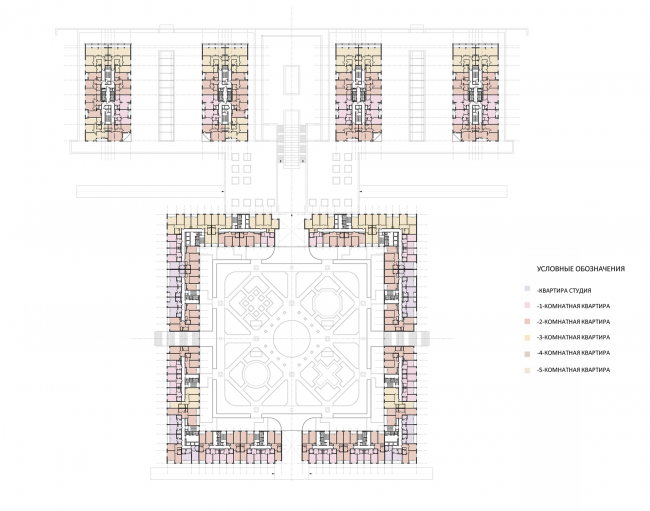 Жилой комплекс на ул. Типанова. План типового этажа © Студия 44
