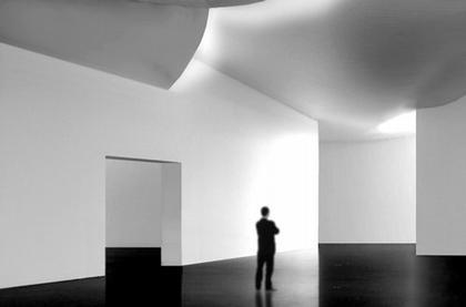 Центр искусств Хернинга.  Проект. Интерьер галереи